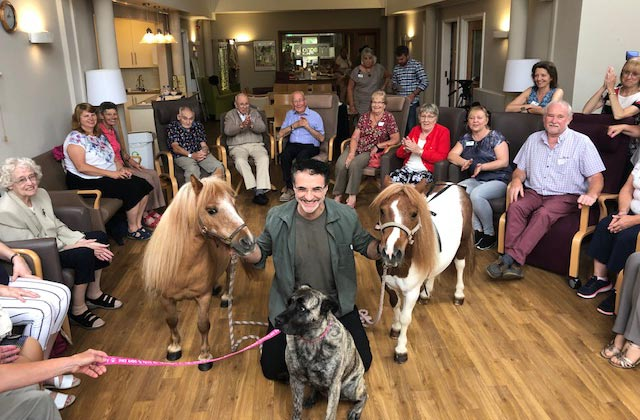 Supervet Professor Noel Fitzpatrick with Dame Maggie and Princess Rose at the Heart of Kent Hospice in Aylesford.