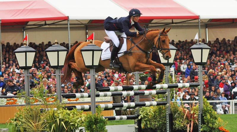 Sharon Hunt and Tankers Town at Badminton in 2008.
