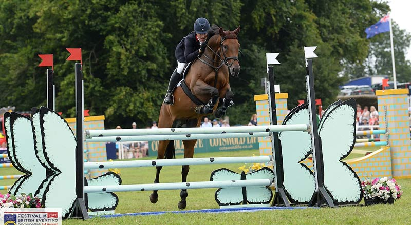Tina Cook and David Cricket won the RoR/NTF Retrained Racehorse Event Championship at Gatcombe.