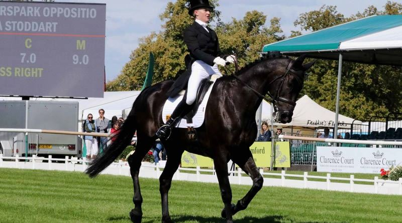 First-day dressage leader Eliza Stoddart and Priorspark Opposition Free.