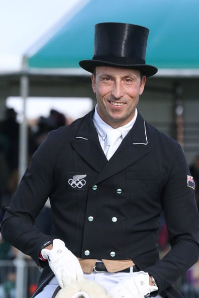 New Zealand's Tim Price is second on Bango and eighth on Xavier Faer after the first day of dressage at Burghley.