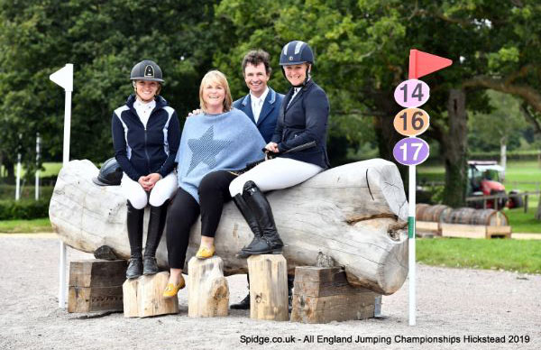 At the launch of Hickstead's new cross-country facility were, from left, Emily King, Hickstead Director Lizzie Bunn, Francis Whittington and Gemma Tattersall.