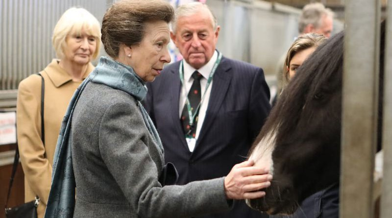 Princess Anne, the Princess Royal, at the opening of World Horse Welfare's redeveloped visitor centre at Penny Farm.