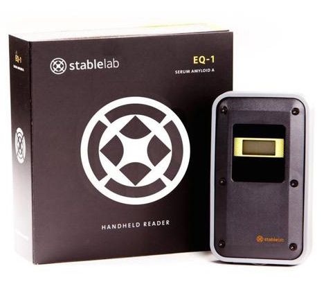 The StableLab hand-held blood testing device.