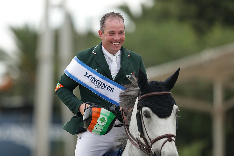 Cian O'Connor and PSG Final after winning the Longines FEI Jumping Nations Cup Final in Barcelona.