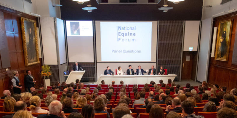 A panel discussion at the 2019 National Equine Forum.