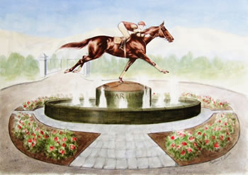 An artist's impression of the statue.