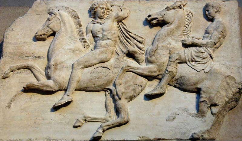 Cavaliers: Block II from the west frieze of the Parthenon, ca. 447–433 BC.