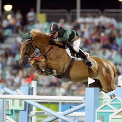 Kevin Babington and Carling King at the 2004 Olympic Games. © FEI / Hippo Foto-Dirk Caremans
