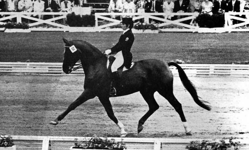 Christilot Boylen and Armagnac II at the 1972 Olympic Games.