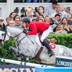 Switzerland's Martin Fuchs and Silver Shine competing in the Longines FEI Jumping Nations Cup Final Barcelona 2019. © FEI/ Lukasz Kowalski