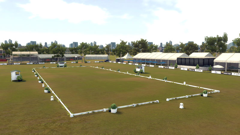 Locations for Equestriad World Tour include Badminton, Burghley, Kentucky, and Adelaide, pictured above.