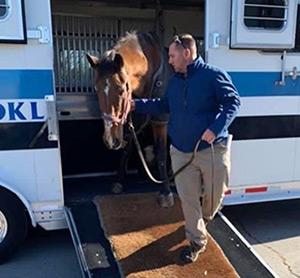 Julio arriving at Warioto Farm