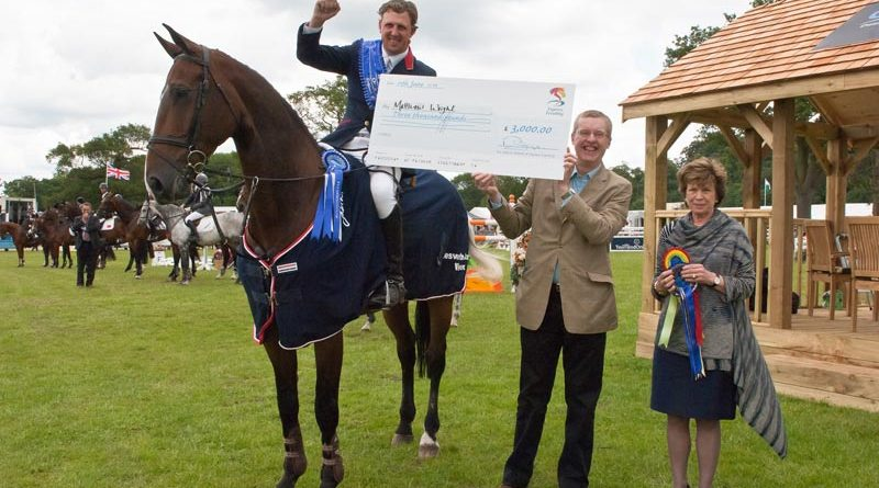 Matthew Wright and If You Want It II after winning the first round of Express Eventing at Bolesworth in 2011.