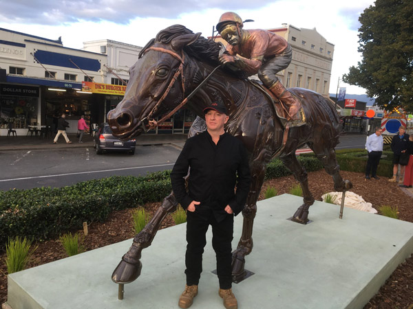 Sculptor Adrian Worsley took two years to compete the work that was unveiled on March 18.