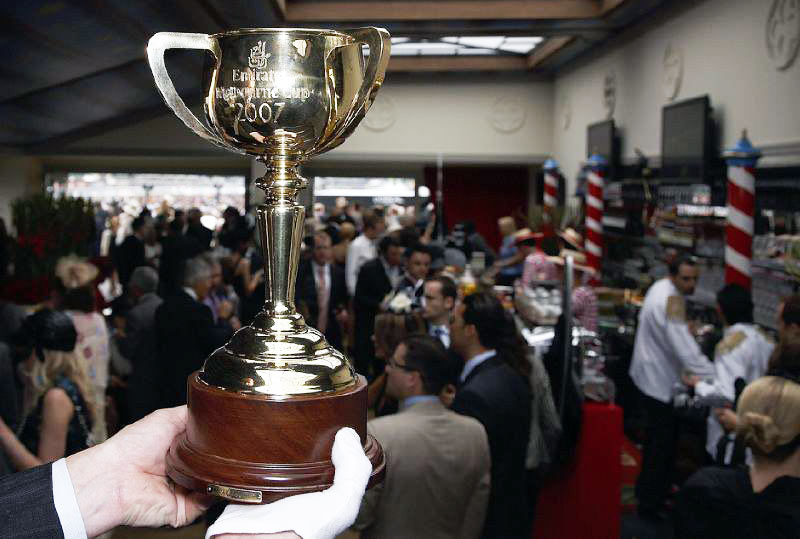 A new Melbourne Cup trophy is crafted each year for the race and becomes the property of the winning owner for life. Some 34 pieces of gold are hand-beaten to make the trophy, with the final product containing over 1.65kg of 18-carat gold.