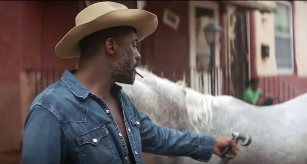 "A still from the Netflix film ""Concrete Cowboy"", starring Idris Elba."