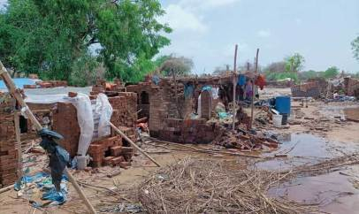 Damaged brick kilns in Bharuch. Cyclone Tauktae has impacted more than 600 owners and 3600 horses, donkeys and mules.