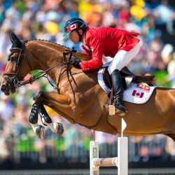 Eric Lamaze won his third Olympic medal for Canada riding Fine Lady 5 at the 2016 Olympic Games in Rio de Janeiro, Brazil. Photo by Arnd Bronkhorst, www.arnd.nl