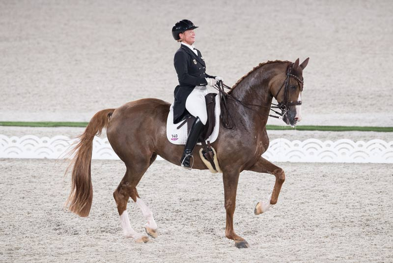 A great ride from Isabell Werth with Bella Rose helped Germany secure pole position for Tuesday's medal-decider, the Grand Prix Special.