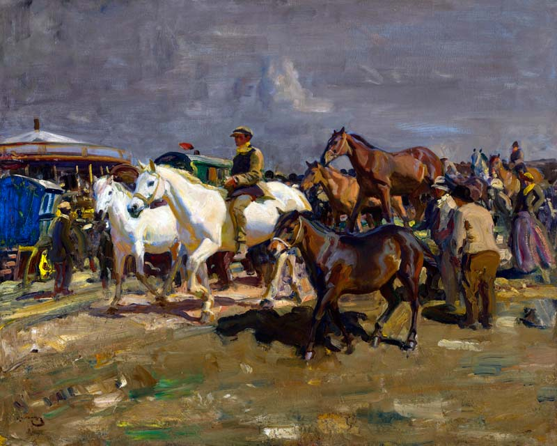 The Coming Storm, by Sir Alfred Munnings, sold for £1,198,500.