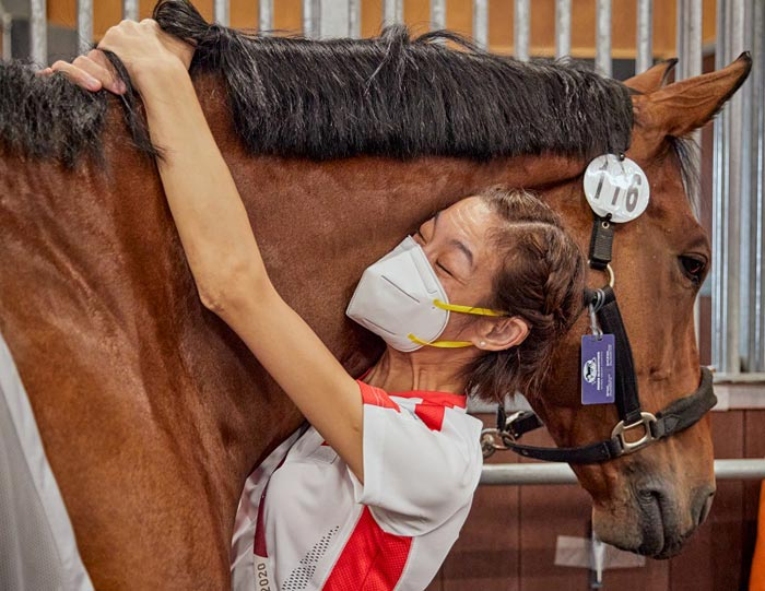 Paralympic rider Laurentia Tan (SGP) and Banestro. They finished fifth in their Grade 1 test at Tokyo 2020. It is Tan's fourth appearance at a Paralympic Games.