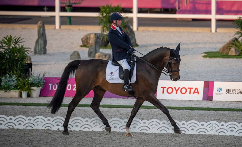 Lee Pearson (GBR) and Breezer in their Grade 2 Dressage Team Test to Music at Tokyo 2020.