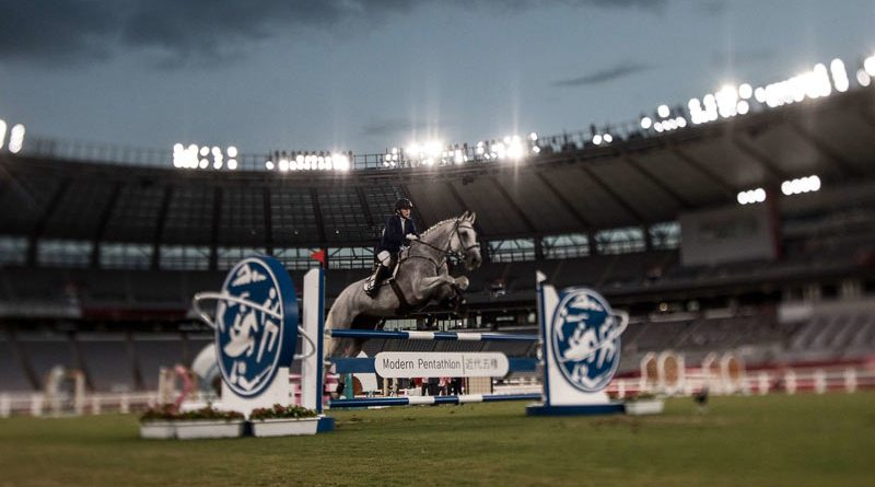 The showjumping in the women's modern pentathlon had all the appearances of a contest between horse and rider, instead of between competitors.