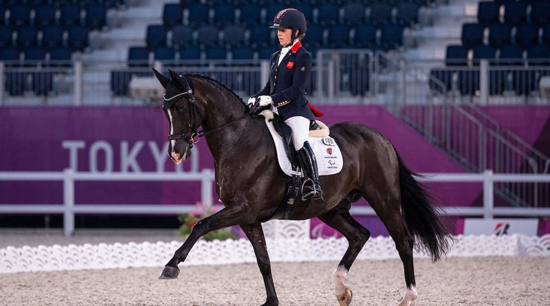 Britain's Sophie Wells and Don Cara M finished fourth in the Grade V Freestyle at Tokyo 2020.