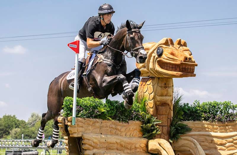 Tim Price and Vitali, who are in fourth place going into the showjumping phase at Tokyo 2020.