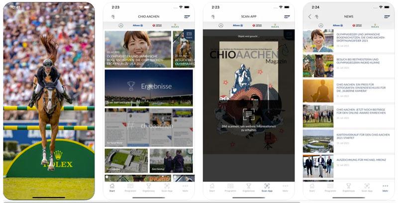 The free CHIO Aachen app.