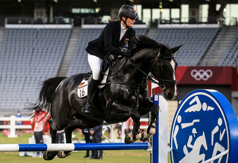 Some of the horses used in the women's Modern Pentathlon event at Tokyo 2020 did not earn the praise of their riders. Pictured is Amira Kandil of Egypt riding Pecora.