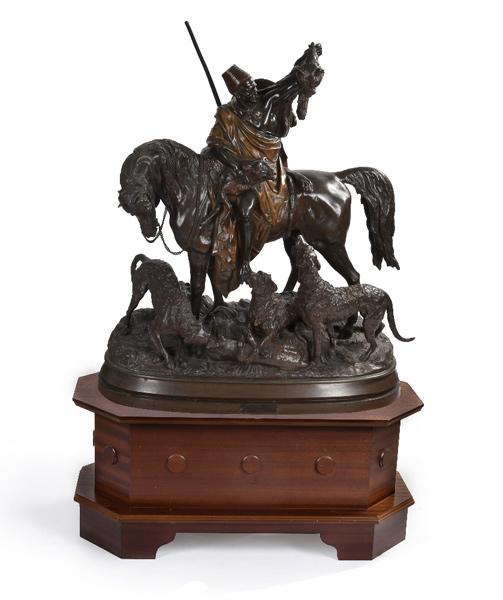 Kabyle au retour de la Chasse by Max Arthur Waagen (1833-1898), sold for £9000.