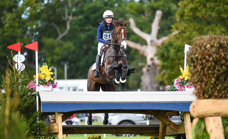 Miss Pepperpot, ridden by Caroline Harris placed third in the CCI4*S to win the Gemini Stud prize at Blenheim.