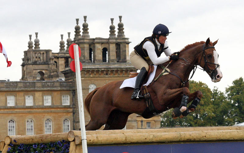 Pippa Funnell and Billy Landretti, at Blenheim in 2011.
