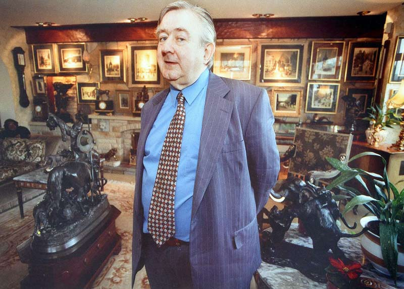 Selwyn Demmy (1932-2020) with some of his vast collection of art and antiques.