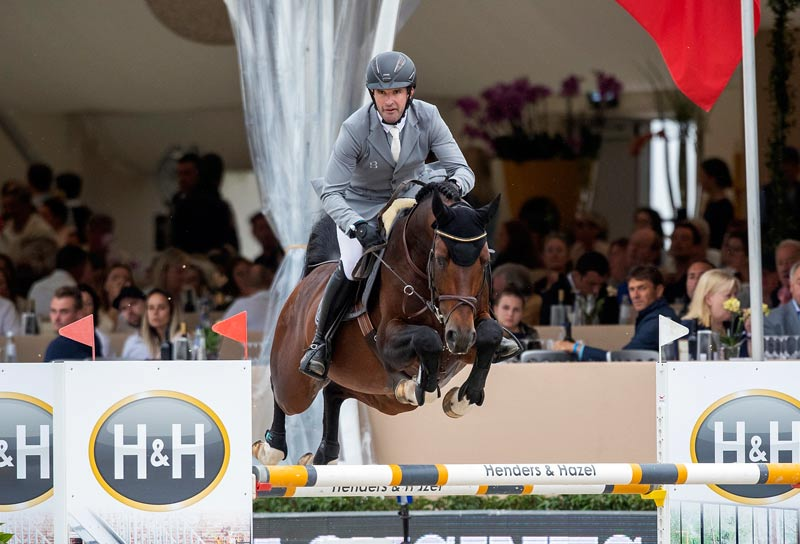 FEI WBFSH Jumping World Breeding Championship for Young Horses Six-Year-Old winner Coros, with Philipp Weishaupt.