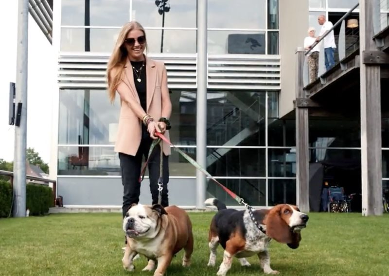 Julia Lynch, wife of New York Empire team member Denis Lynch, adopted her dogs, Faith and Bertie, from Great Bulls of China.