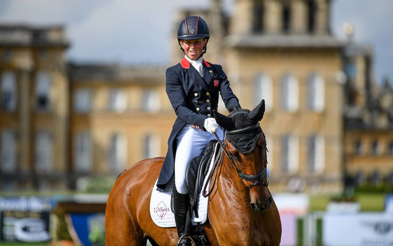 Ros Canter leads the CCI4*-S for eight and nine-year-old horses on Izilot DHI.