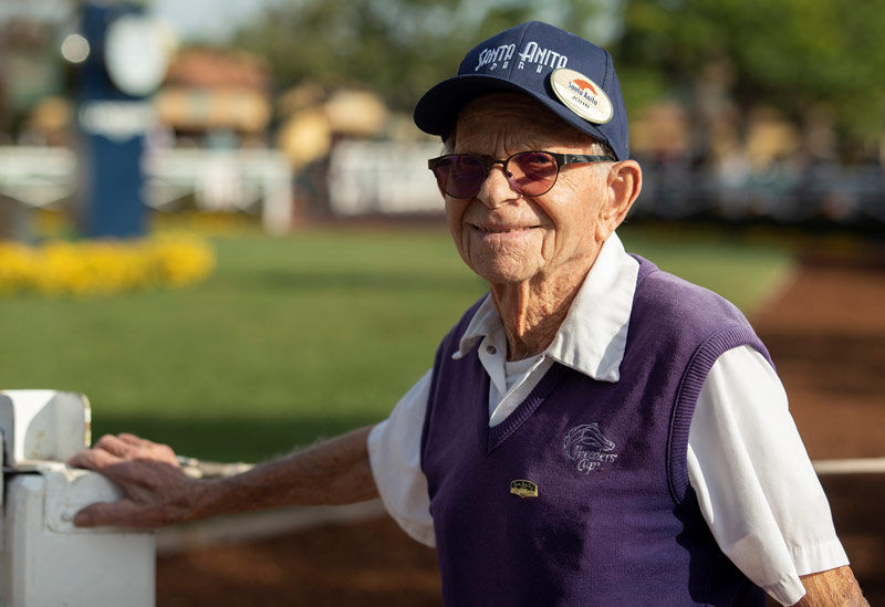John Shear has retired from his job as Paddock Captain at Santa Anita. He has worked at the California track since 1961.