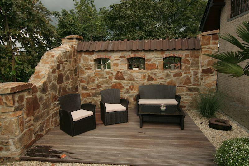 garten im ruinenmauer - boisholz, Terrassen ideen