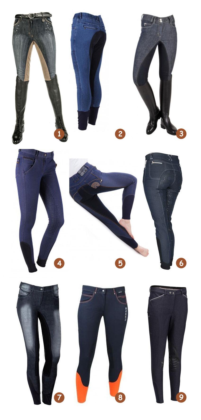 jeans rijbroeken met een extra