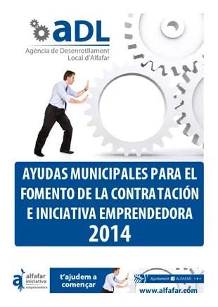Alfafar abre el plazo para solicitar las ayudas municipales para contratar y para emprender