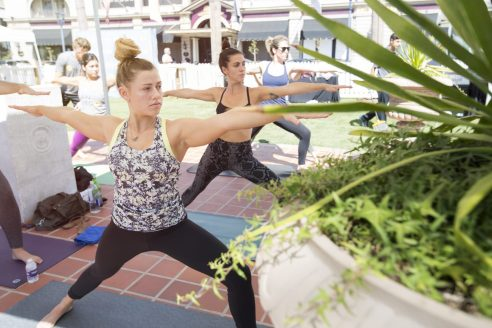 Horton Plaza Park-Yoga