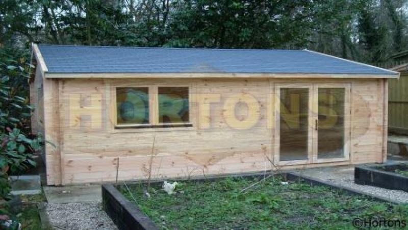 Bristol 59m x 59m Garden Office  Hortons Portable Buildings