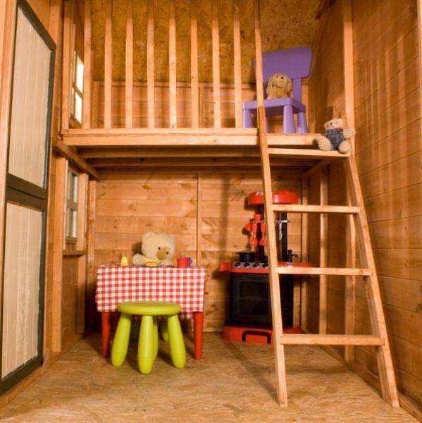 Two storey Dutch barn playhouse  Hortons Portable Buildings Ltd