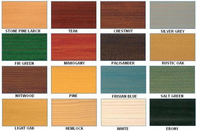 Remmers HK Lasur timber preservative colour chart