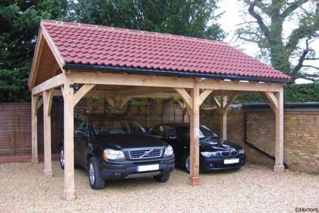 Log Cabin Details Post And Beam Double Bay Carport