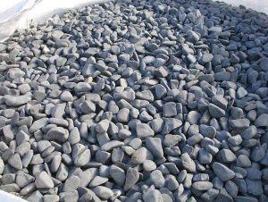 Galet basalte noir
