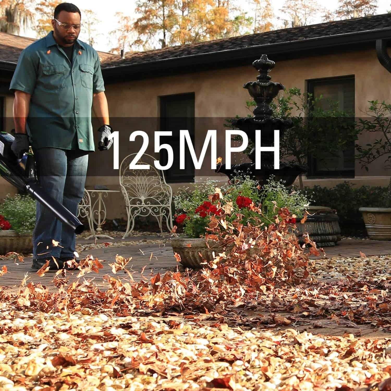 Greenworks leaf blower with 125mph